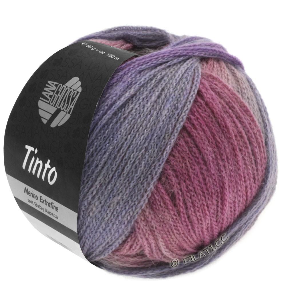 Lana Grossa TINTO | 04-красная фиалка/розовый/грязь/малиновый/светло-серый