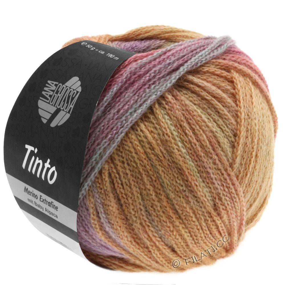Lana Grossa TINTO | 07-мягко-желтый/лососевый/светло-бирюзовый/сирень/бежевый