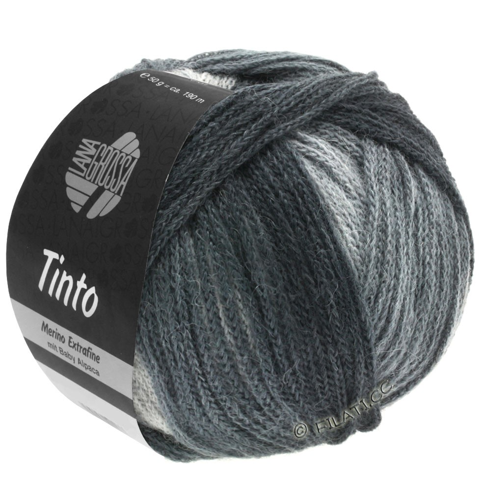 Lana Grossa TINTO | 11-светло-серый/средне-серый/тёмно-серый/антрацитовый