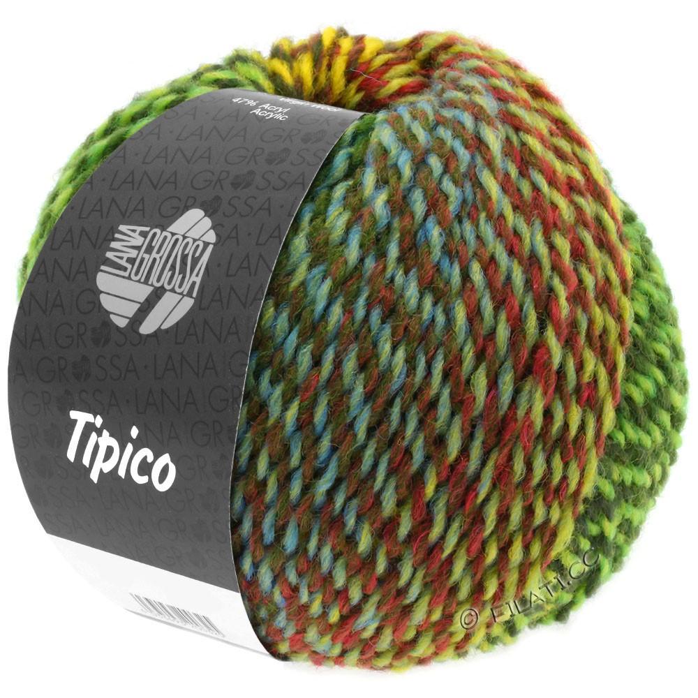 Lana Grossa TIPICO | 01-светло-зелёный/тёмно-зелёный/коричневый/жёлтый