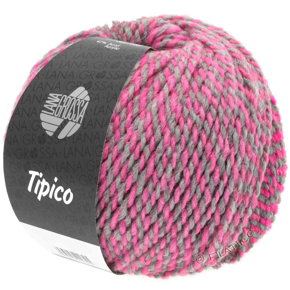 Lana Grossa TIPICO | 04-тёмно-серый/пинк/малиновый/светло-серый