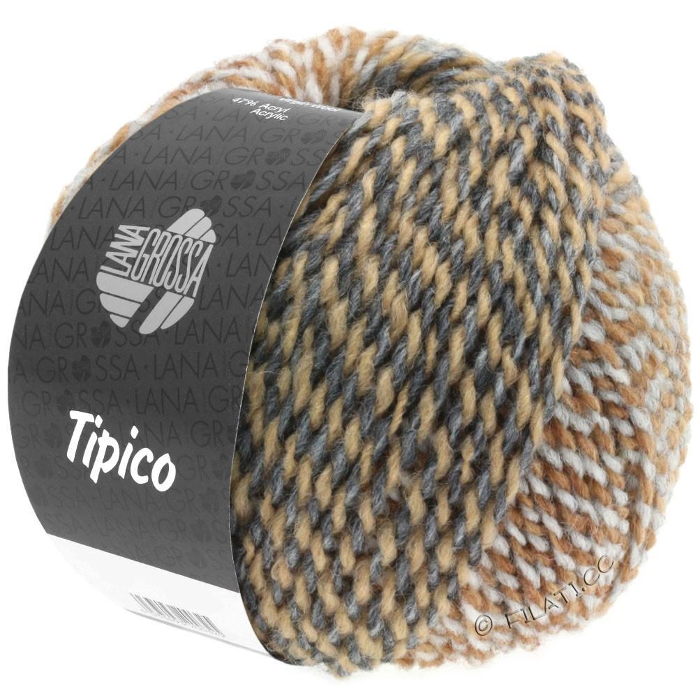 Lana Grossa TIPICO | 06-светло-серый/тёмно-серый/легко коричневый