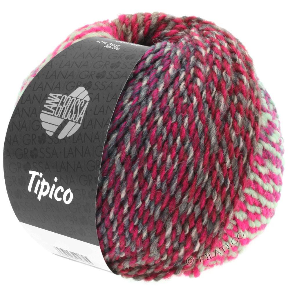 Lana Grossa TIPICO | 09-светло-серый/тёмно-серый/пинк