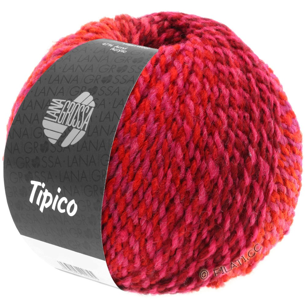 Lana Grossa TIPICO | 10-красные розы/красное вино