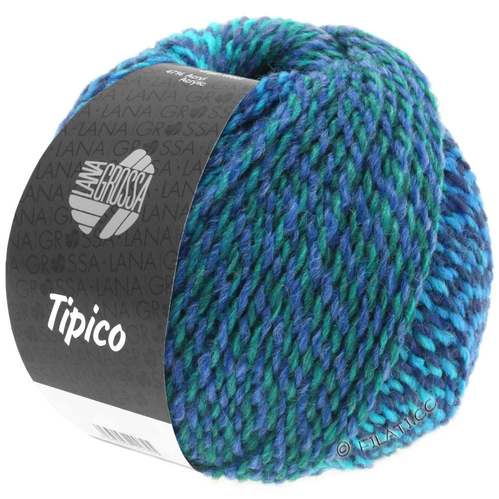 Lana Grossa TIPICO | 11-тёмно-синий/бирюзовый/петроль