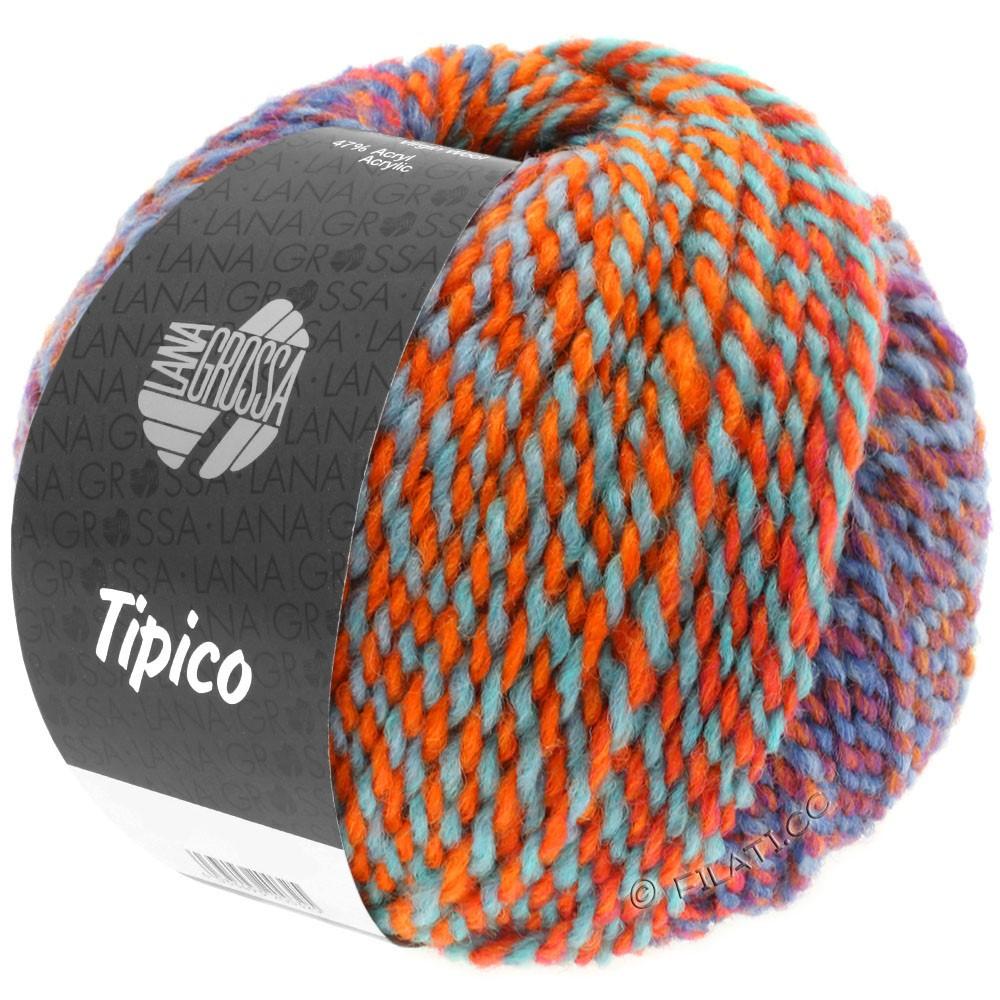 Lana Grossa TIPICO | 12-синий/цвет ржавчины/бирюзовый/оранжевый