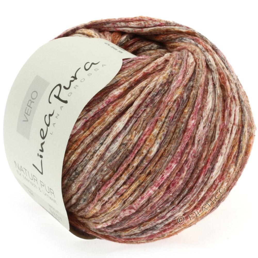 Lana Grossa VERO uni/print уни/принт (Linea Pura) | 101-красно-коричневый/серо-коричневый/натуральный