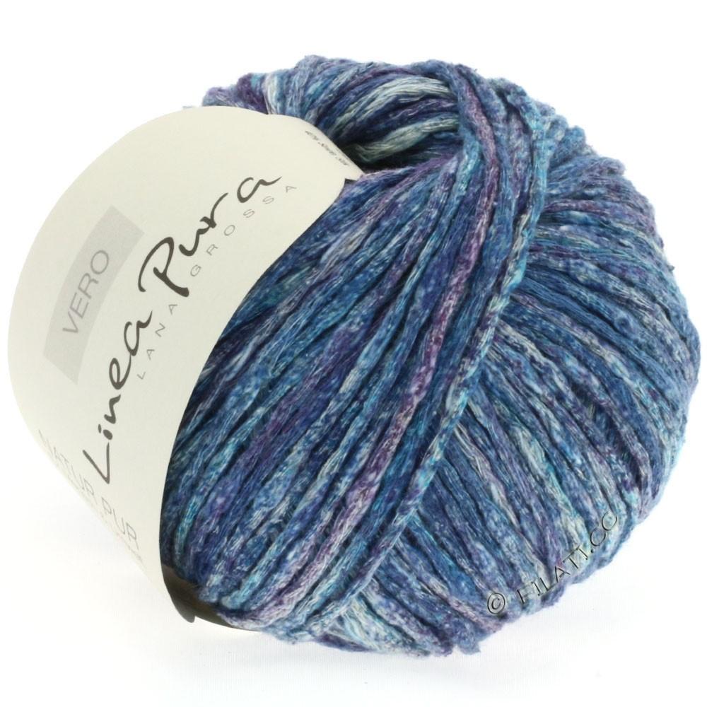 Lana Grossa VERO uni/print уни/принт (Linea Pura) | 106-петроль синий/фиолетовый/натуральный/джинс