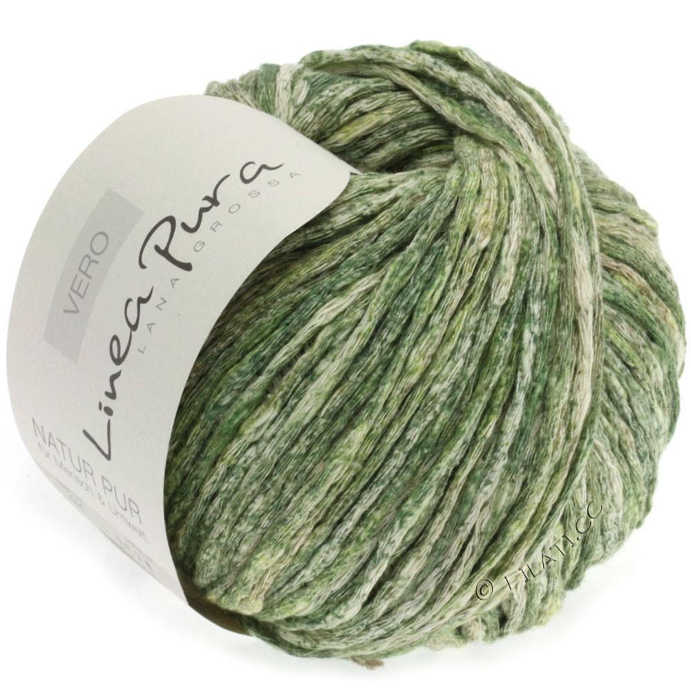 Lana Grossa VERO uni/print уни/принт (Linea Pura) | 111-зелёный/тростник/натуральный