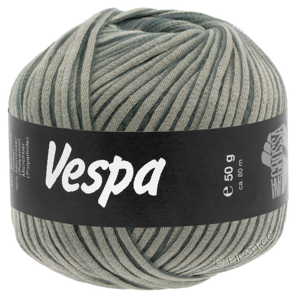 Lana Grossa VESPA | 002-серый/синий серый