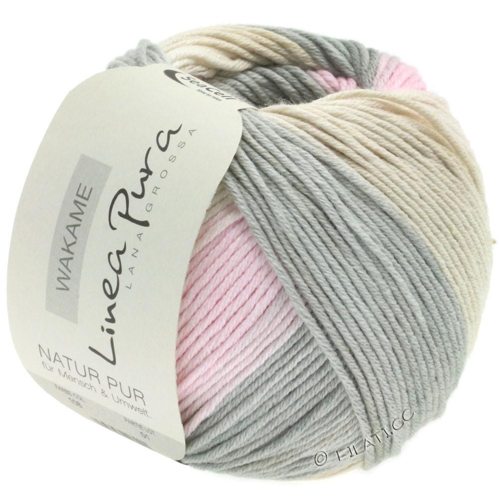 Lana Grossa WAKAME Uni/Print уни/принт (Linea Pura) | 108-тёмно-серый/розовый/бежевый/песок