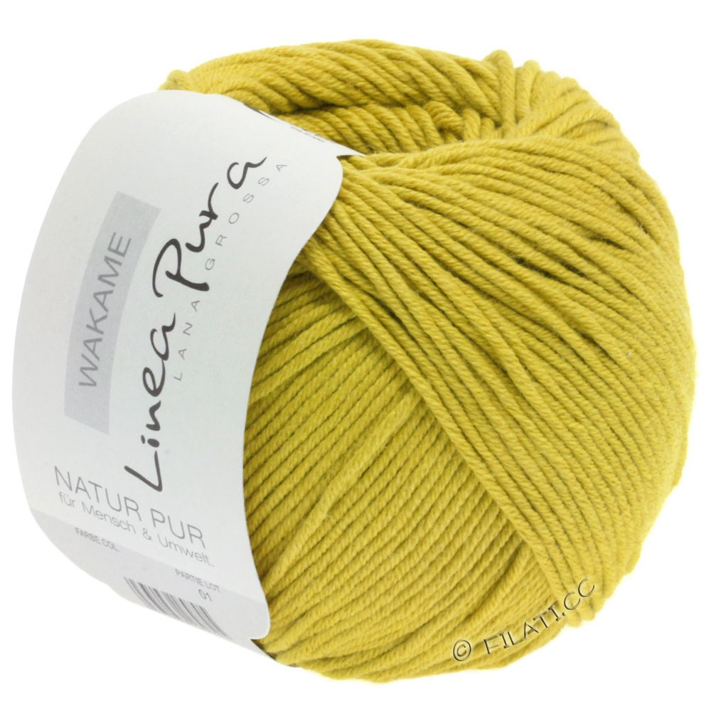 Lana Grossa WAKAME Uni/Print уни/принт (Linea Pura) | 023-горчично-желтый