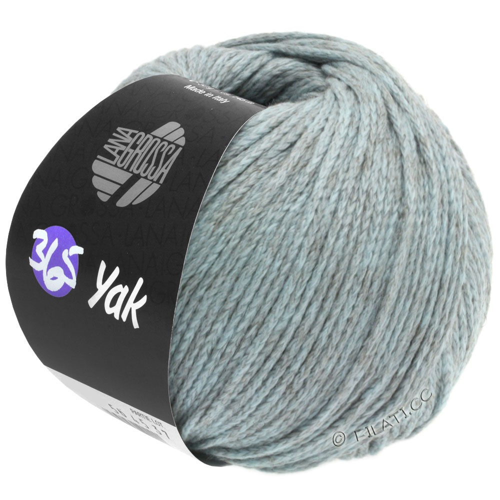 Lana Grossa 365 YAK | 08-светло-голубой/серый