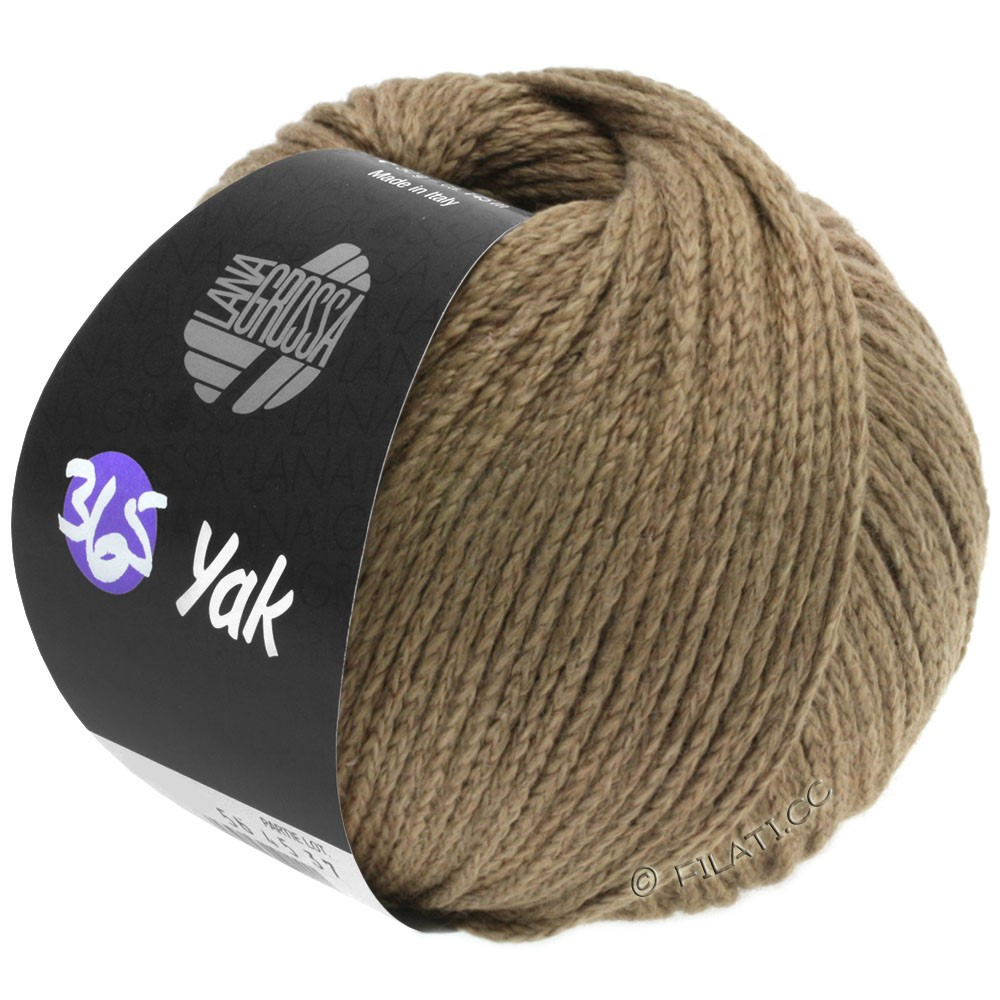 Lana Grossa 365 YAK | 12-серо-коричневый