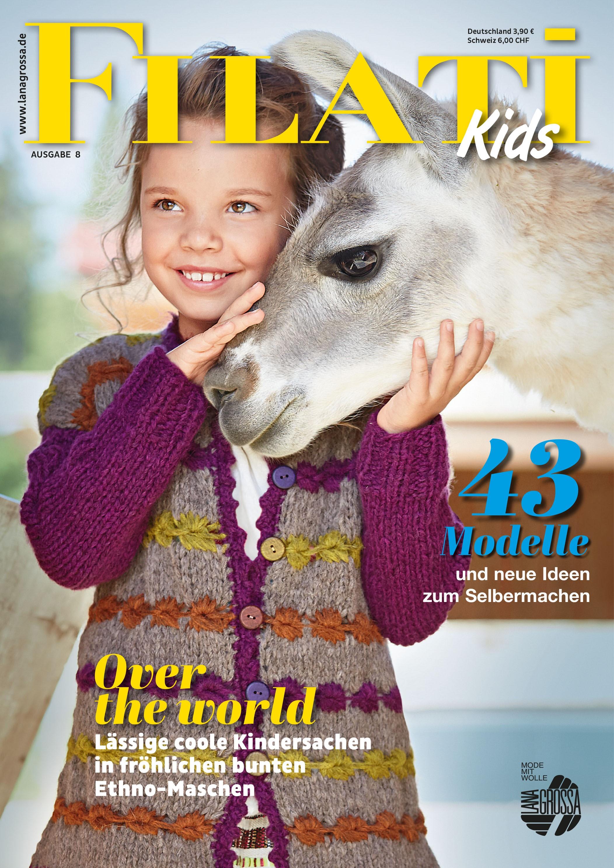 Lana Grossa FILATI Kids No. 8 - Журнал на немецком и на русском языке инструкции