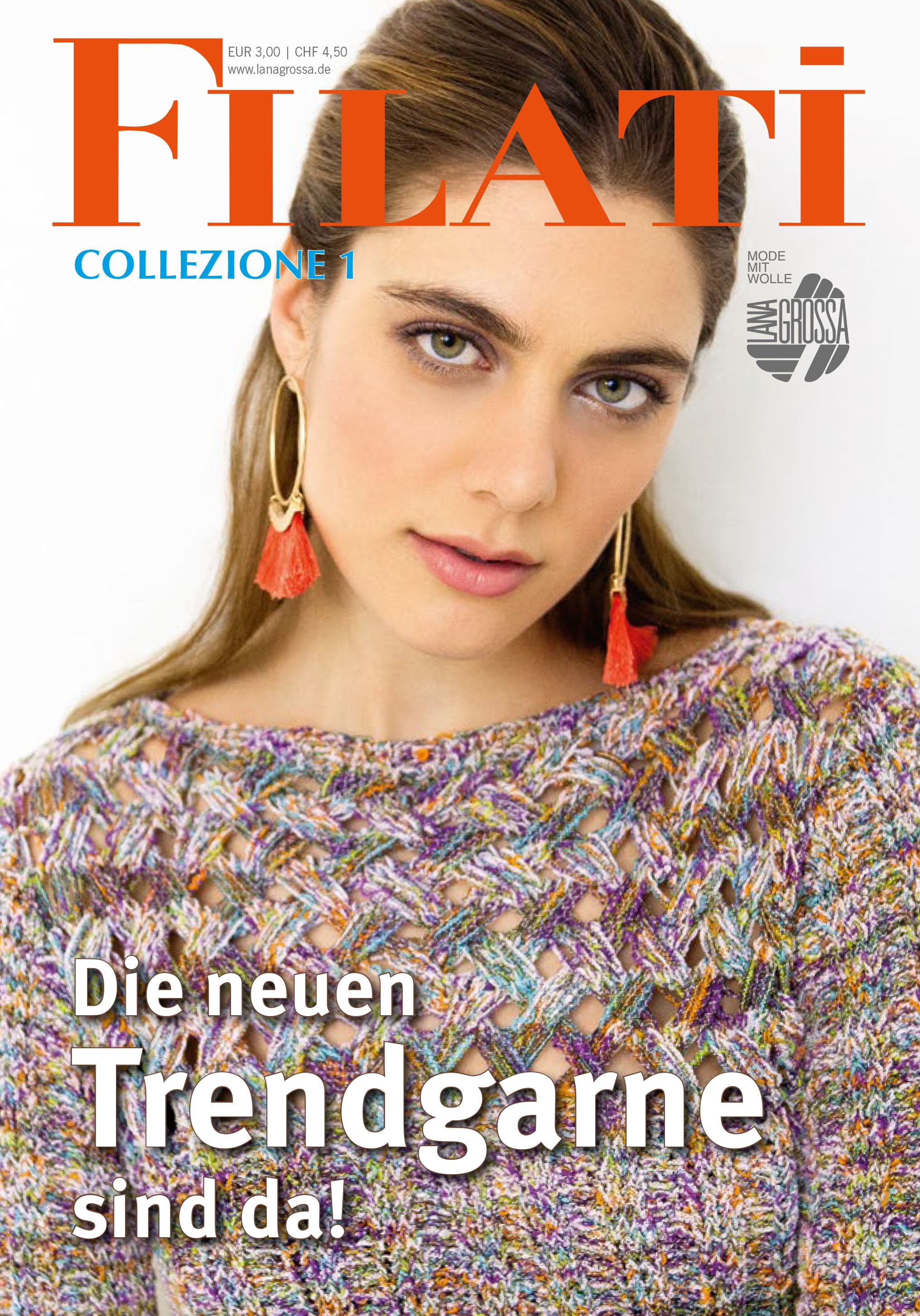 Lana Grossa FILATI COLLEZIONE No. 1 - Журнал на немецком,  инструкции на русском языке