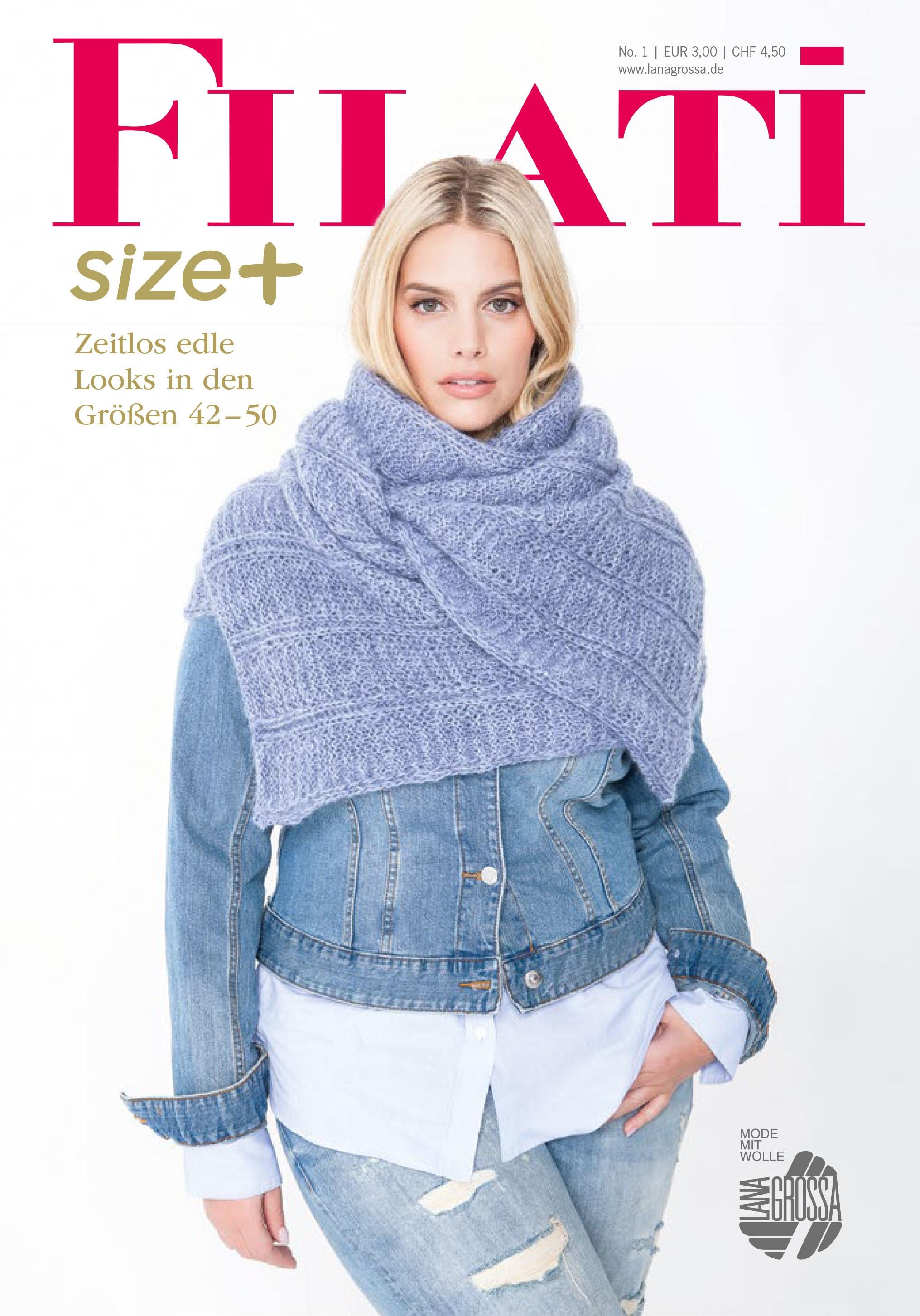 Lana Grossa FILATI Size Plus - Журнал на немецком языке,  инструкции на русском