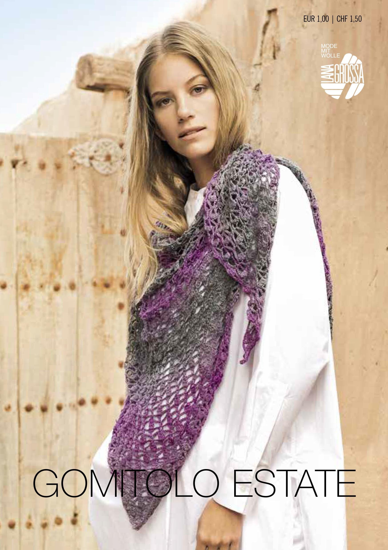 Lana Grossa GOMITOLO ESTATE Flyer - Magazine (DE) + Knitting instructions (EN)