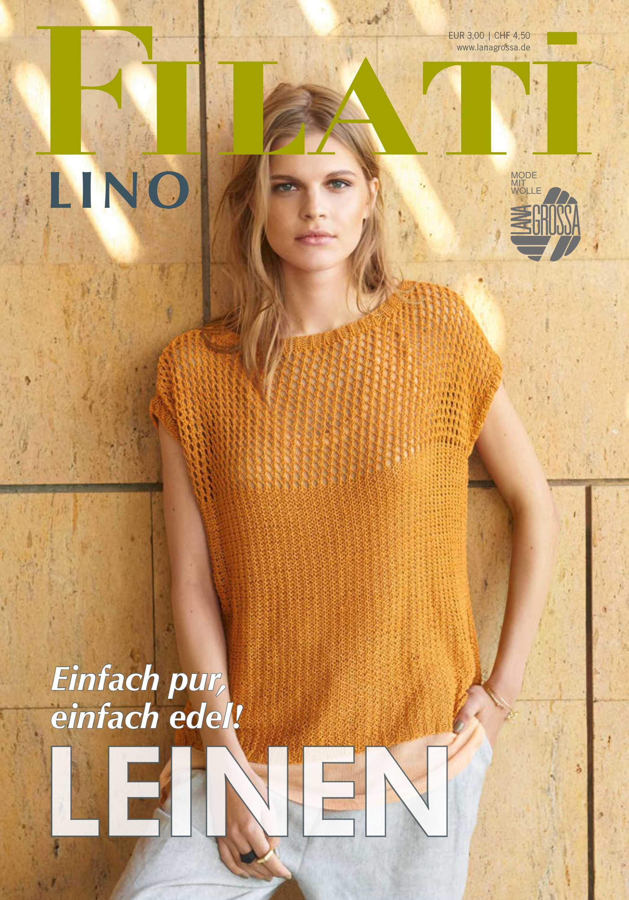 Lana Grossa FILATI Lino No. 1 - Magazine (DE) + Knitting instructions (EN)