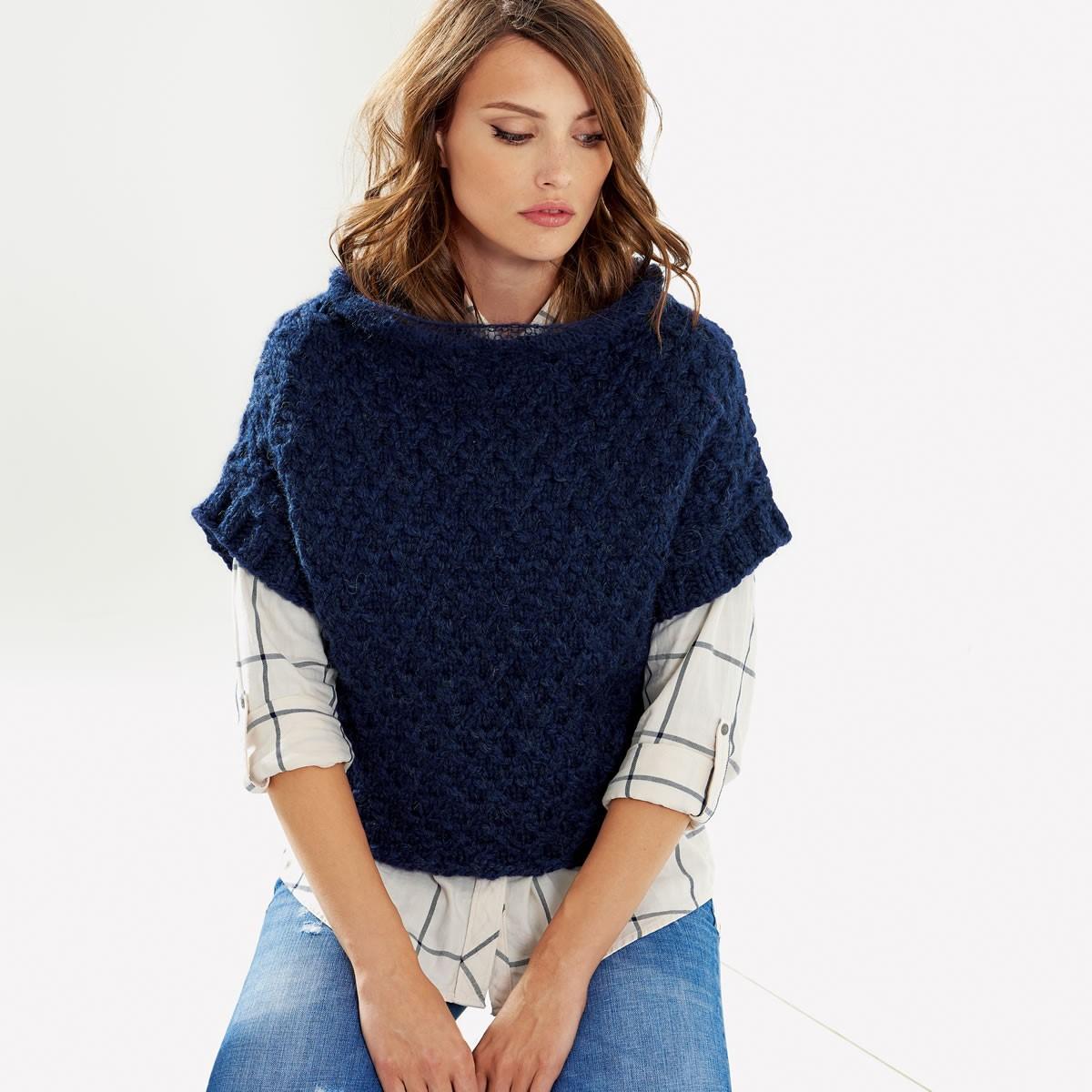 Lana Grossa Пуловер с рукавом-кимоно Alta Moda Superbaby/Silkhair