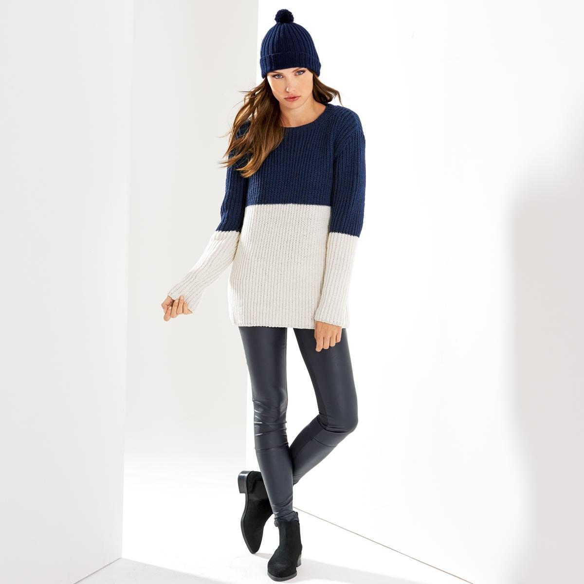 Lana Grossa Шапка с отворотом Cool Wool Melange