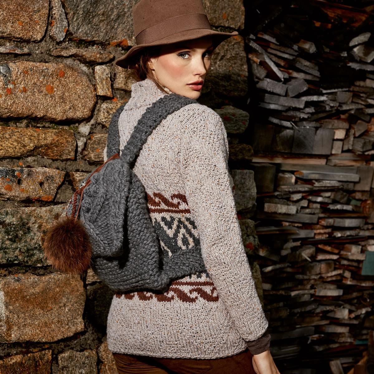 Lana Grossa Рюкзак платочной вязки с клапаном Lei