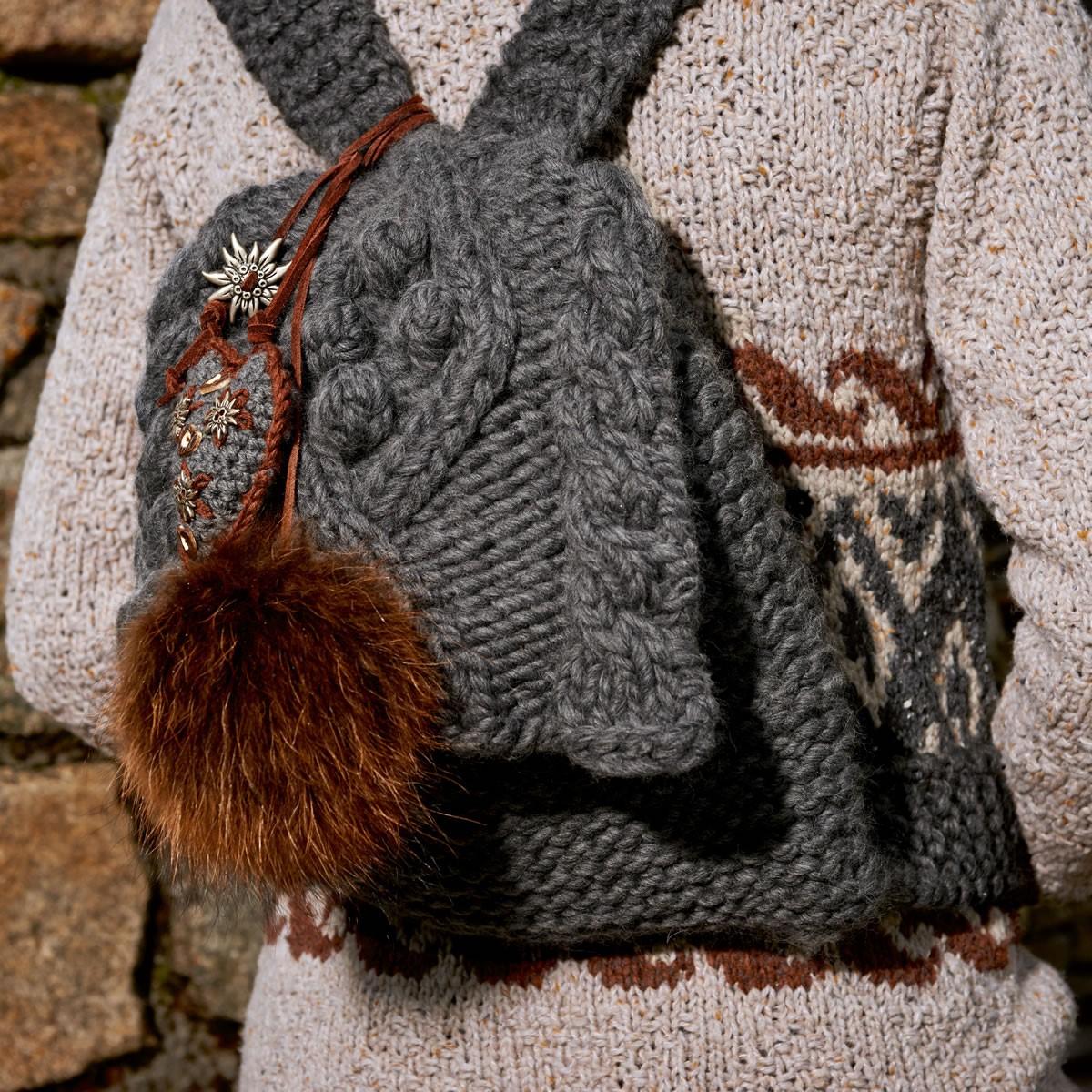 Lana Grossa Сердечко, выполненное крючком Cool Wool Big Melange/uni