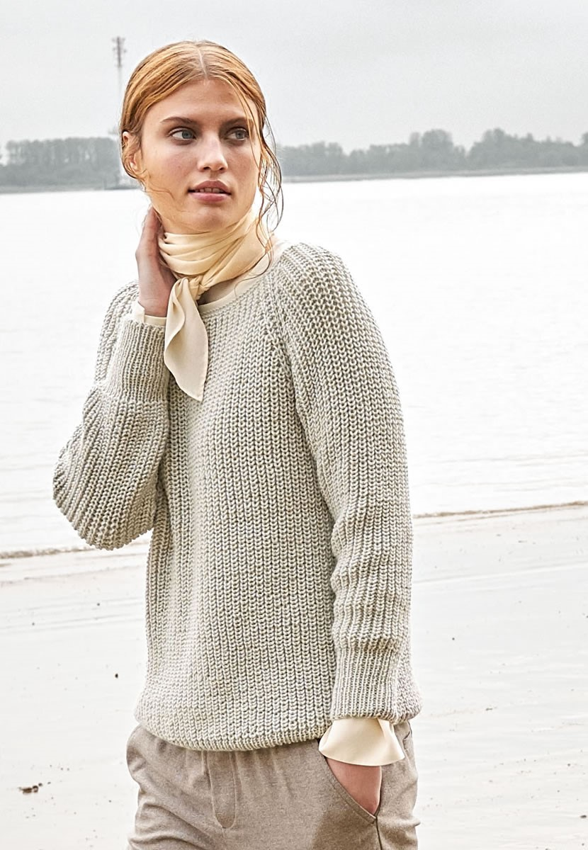 Lana Grossa ПУЛОВЕР Cool Wool Cashmere