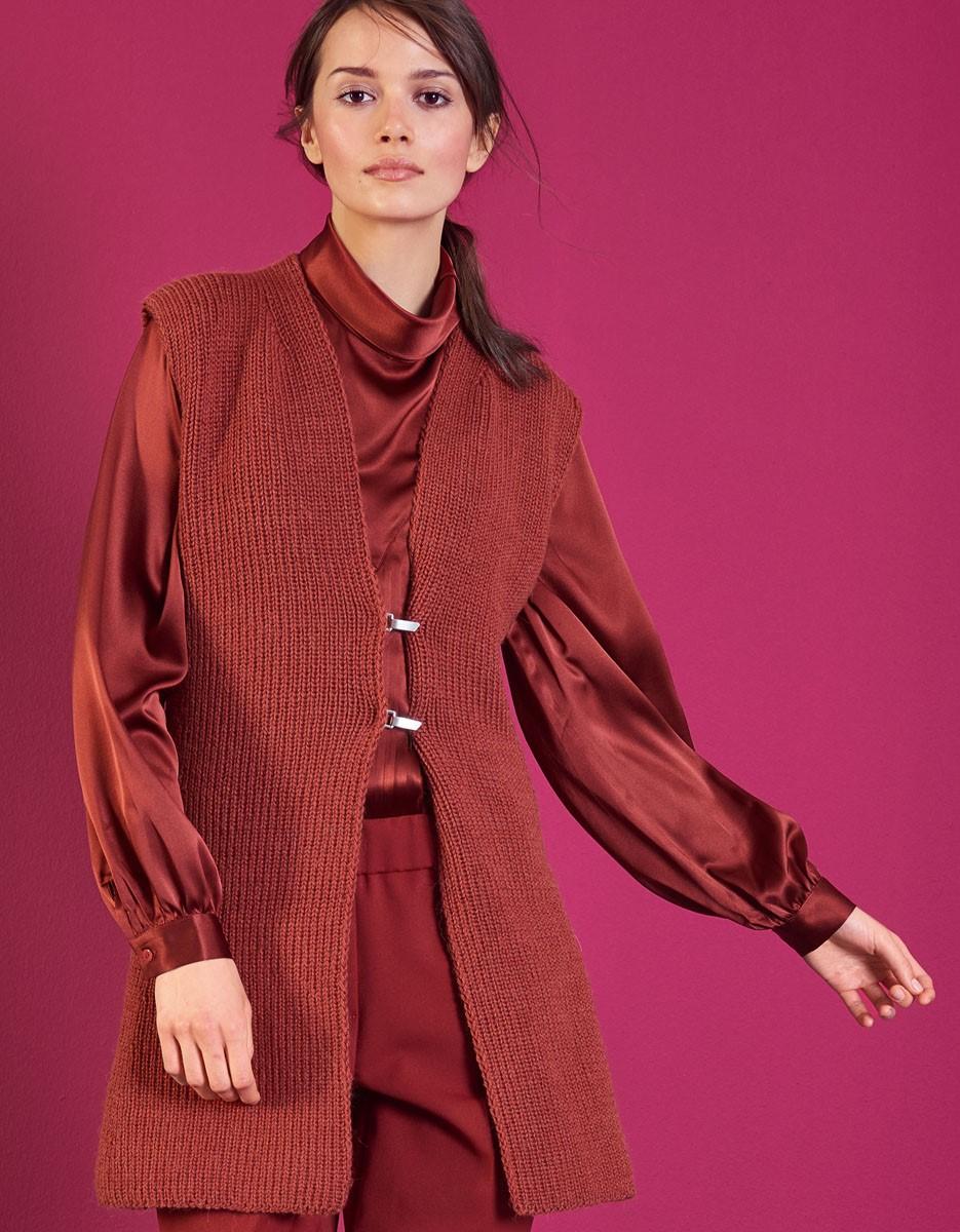 Lana Grossa ДЛИННЫЙ ЖИЛЕТ Cool Wool Alpaca
