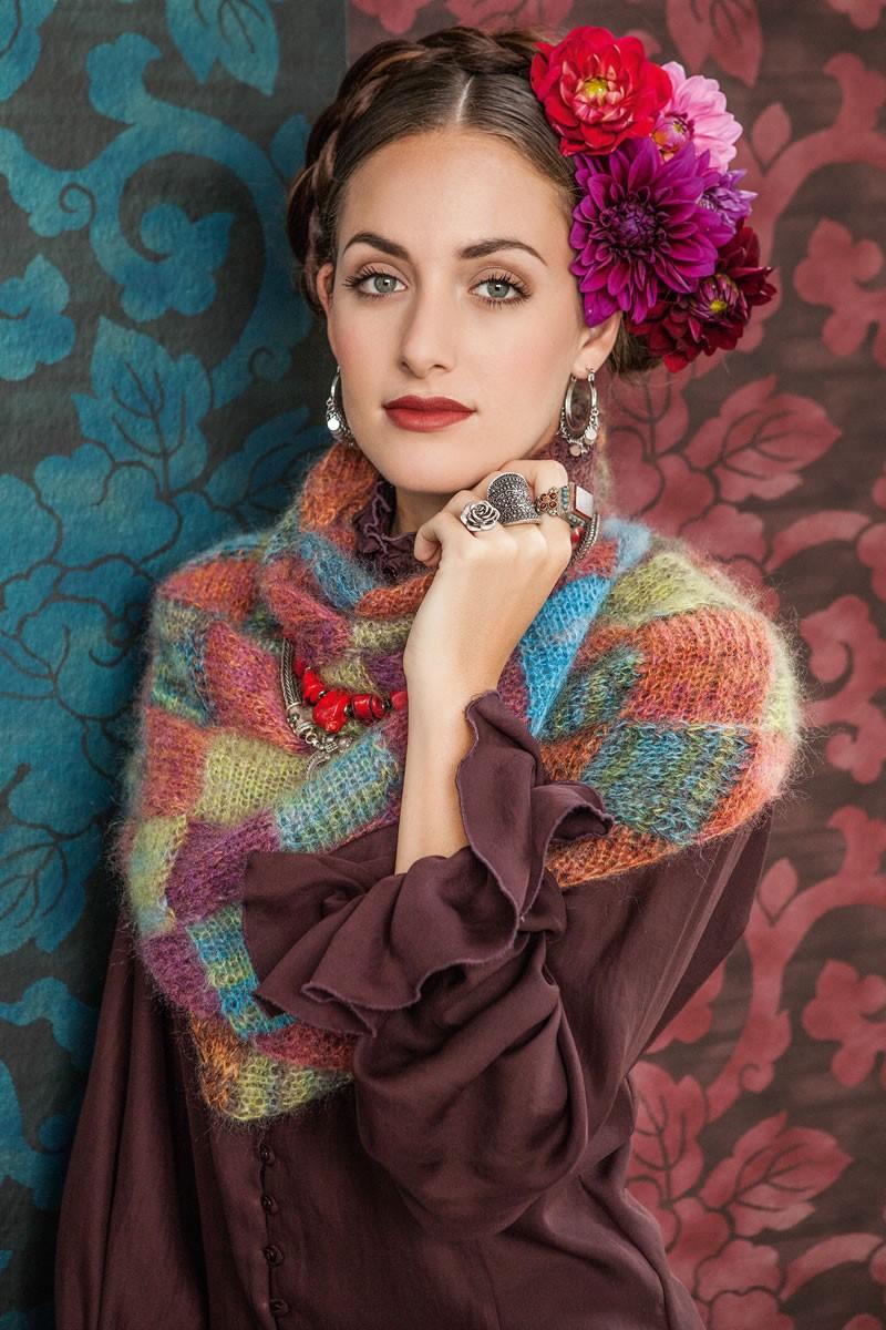 Lana Grossa ПЛАТОК С ПЛЕТЕНЫМ УЗОРОМ Silkhair print