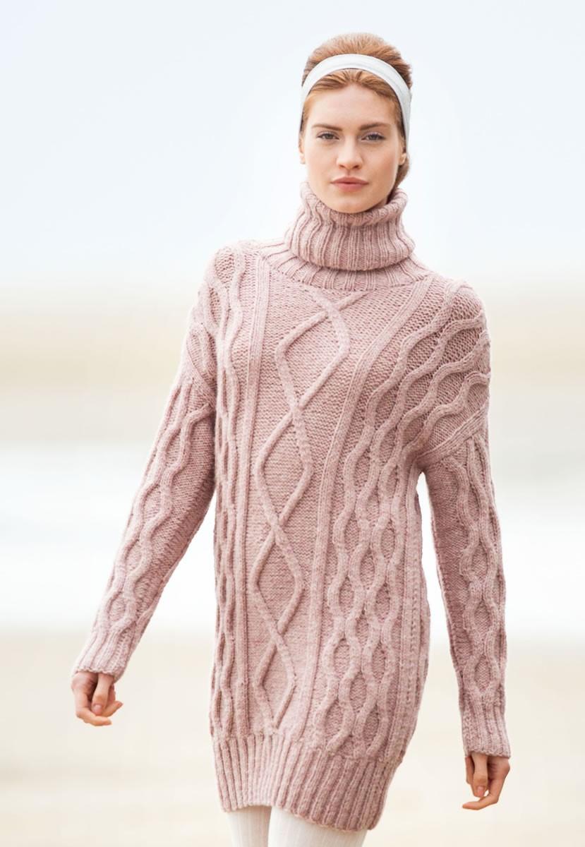 Lana Grossa УДЛИНЕННЫЙ ПУЛОВЕР Alta Moda Alpaca