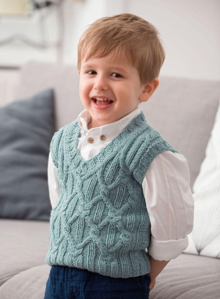 Lana Grossa ЖИЛЕТ Cool Wool Big Melange