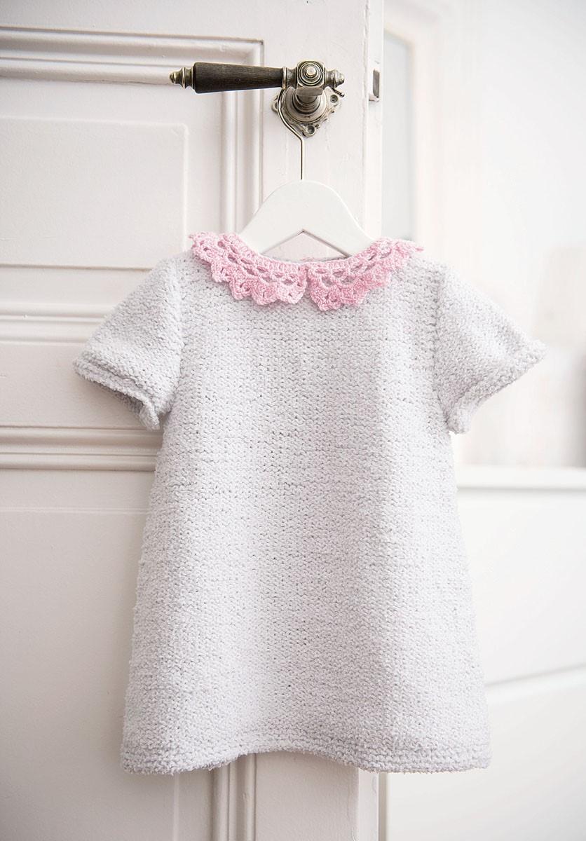 Lana Grossa ПЛАТЬЕ Baby Soft/Cool Wool Baby