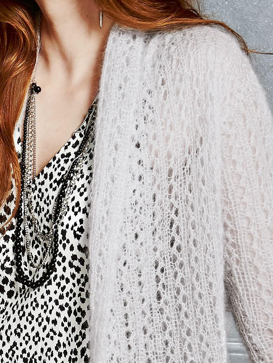 Lana Grossa Жакет, выполненный ажурной резинкой Silkhair