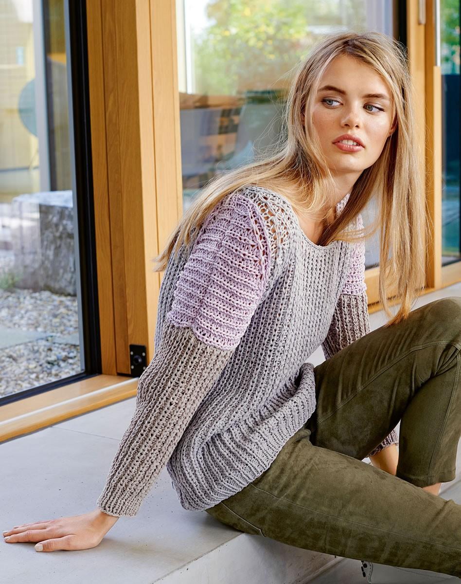 Lana Grossa Пуловер с рукавом реглан II Puro