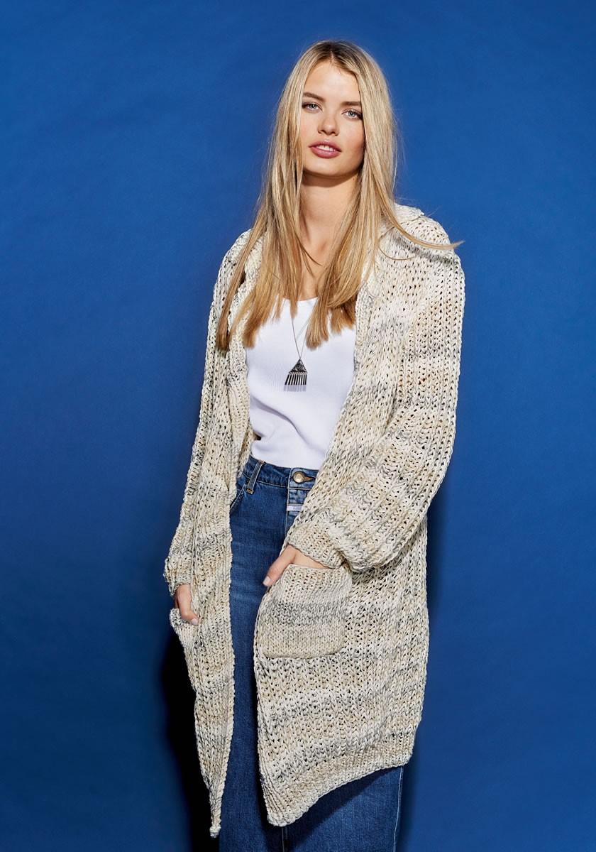 Lana Grossa Короткое пальто II Puro/Wakame Print