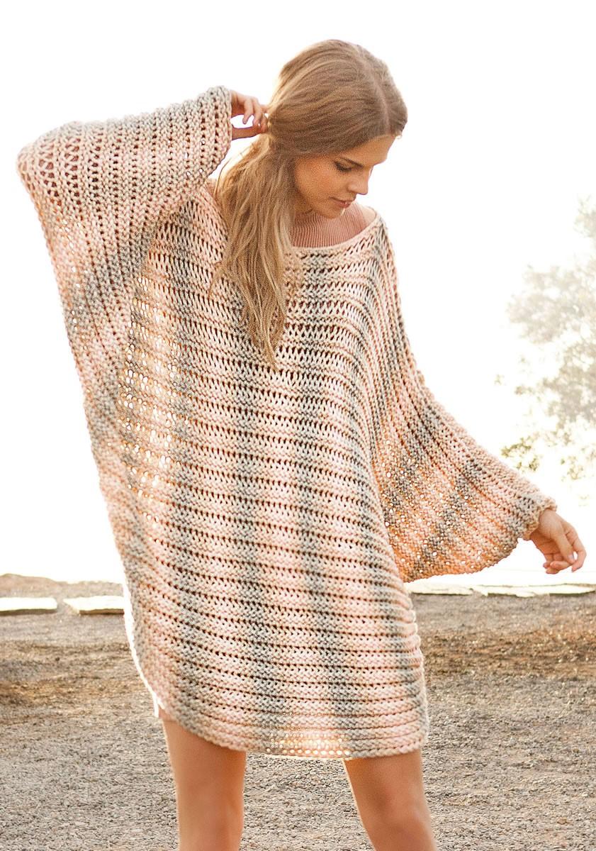 Lana Grossa Пончо-пуловер Cashsilk Degradé