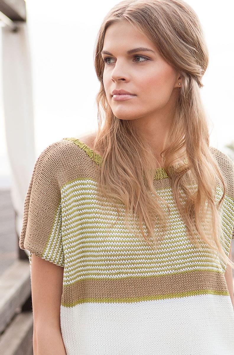 Lana Grossa Пуловер с короткими рукавами Wakame