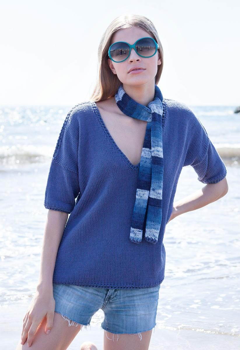 Lana Grossa Пуловер с рукавами кимоно Wakame/Cashsilk
