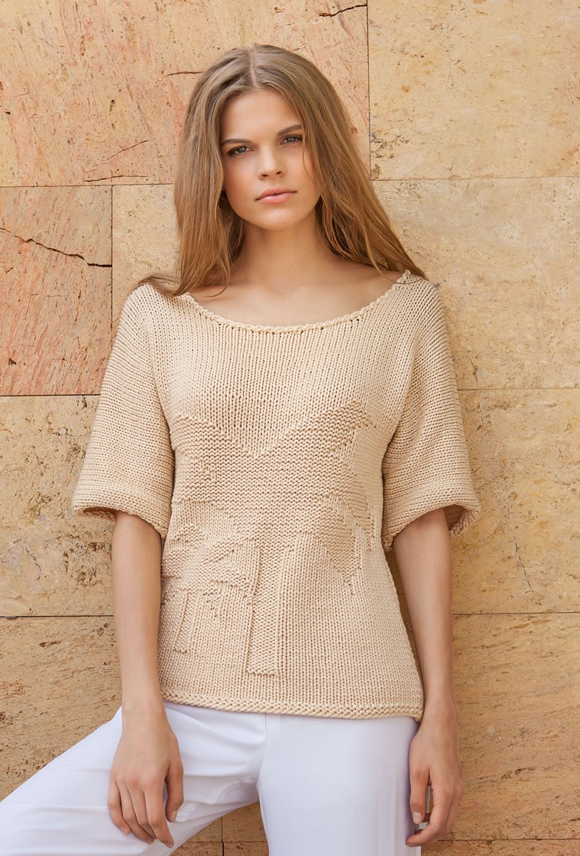 Lana Grossa Пуловер с рукавами кимоно Cashsilk