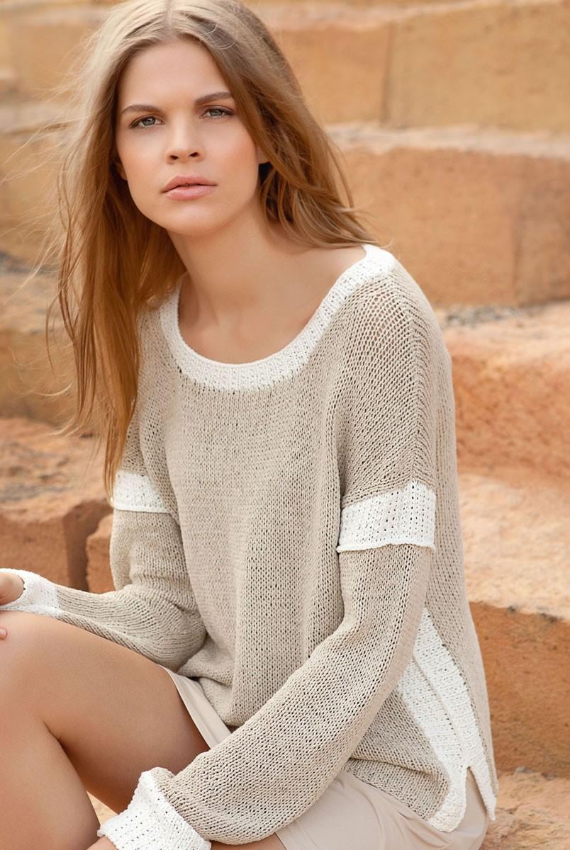 Lana Grossa Пуловер Solo Lino Melange