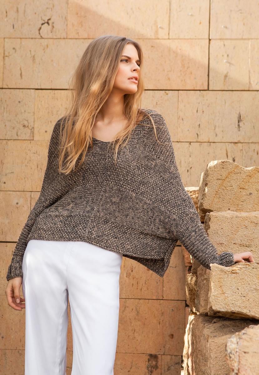 Lana Grossa Пуловер Organico Print