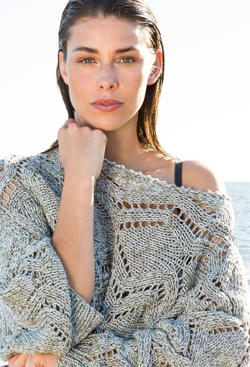 Lana Grossa Пуловер с рукавами кимоно Wakame