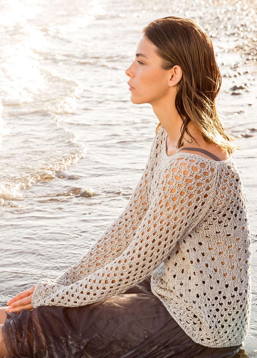 Lana Grossa Пуловер с рукавом реглан Solo Lino Melange