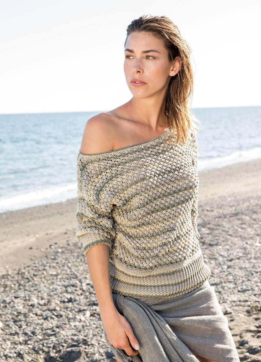 Lana Grossa Пуловер Wakame Print