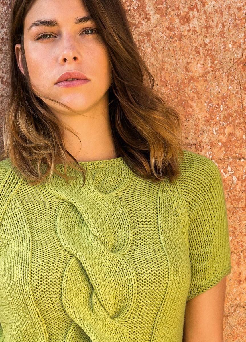 Lana Grossa Короткий пуловер с рукавом реглан Organico