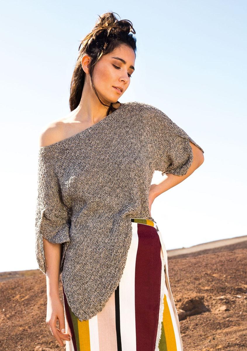Lana Grossa Пуловер с короткими рукавами Collino