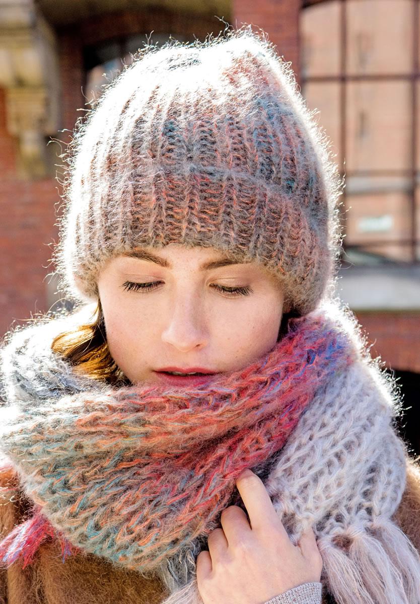 Вязание шапок нет из ниток меланж 22
