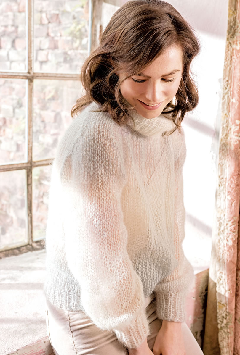 Вязание из мохера спицами для женщин оригинальные модели сабрина 80