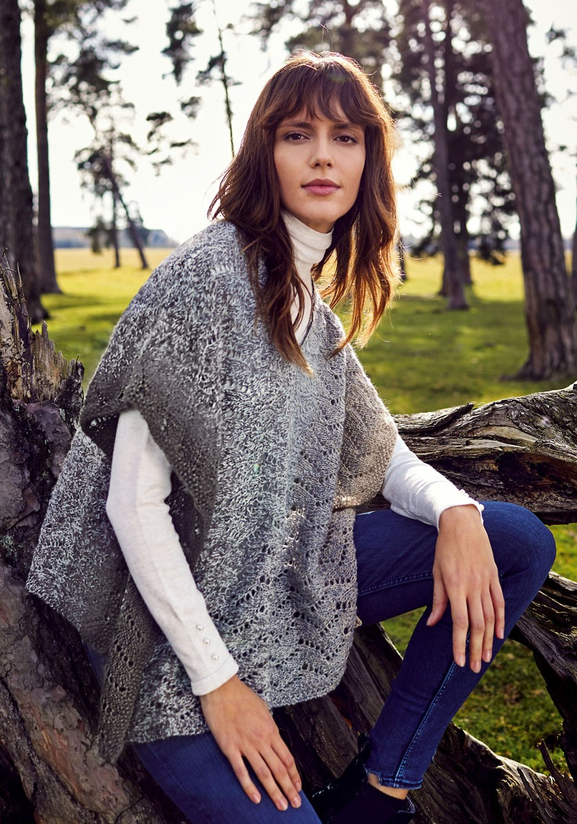 Lana Grossa ПЛАТОК/ПОНЧО Shades of Alpaca Silk